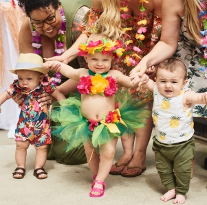 Hayden with her friends Bodhi and Hudson