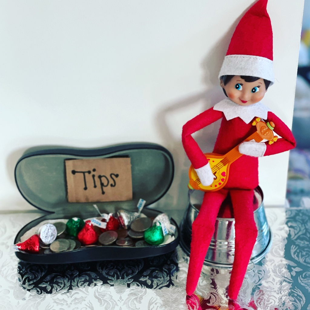Elf on the Shelf - Guitar Player