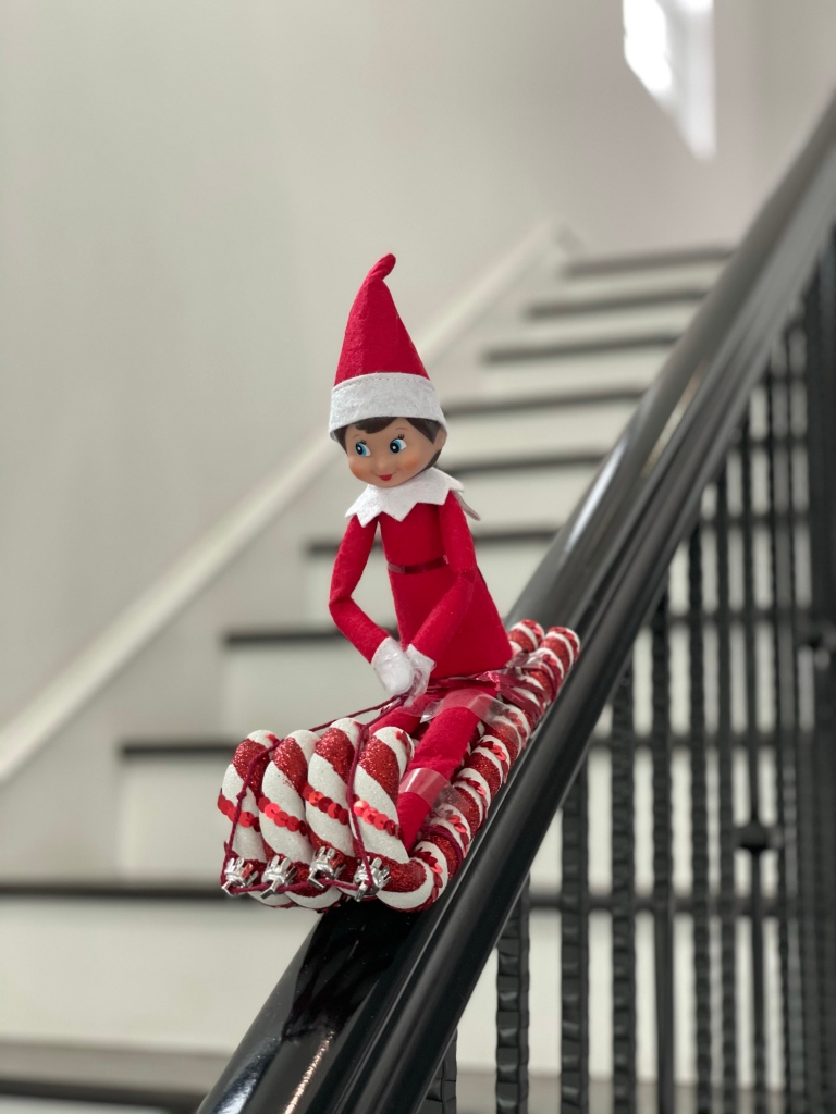 Elf on the Shelf - Candy Cane Sled​